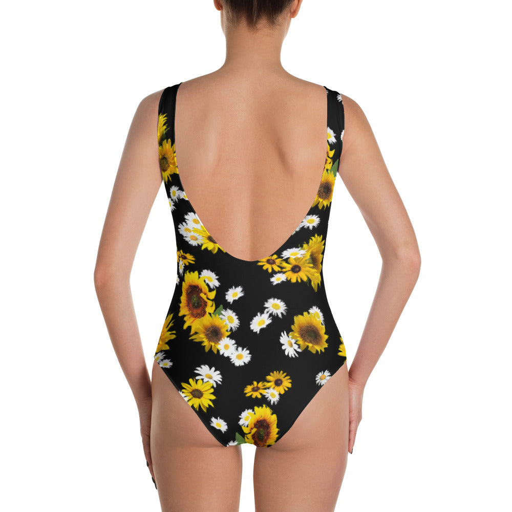 Sunflowers and Daisies One Piece Swimsuit