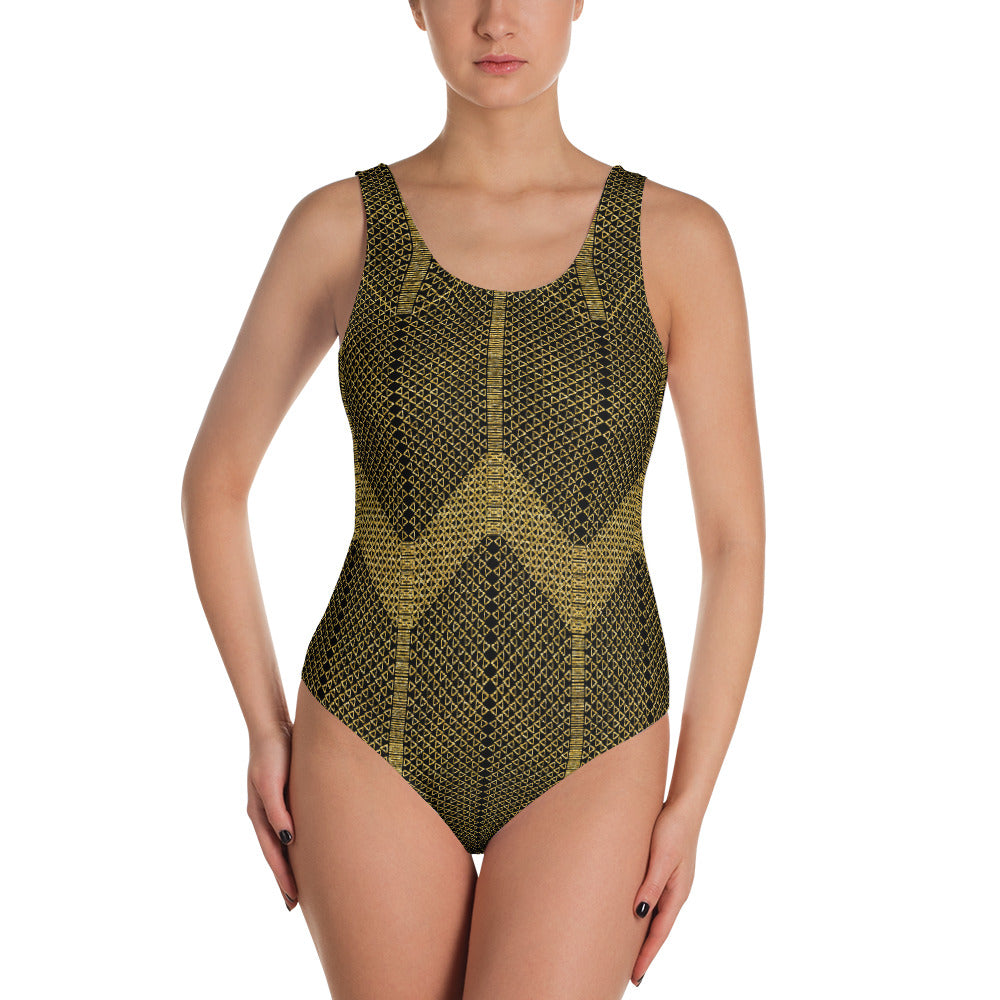 Gold Foil Mesh One Piece Swimsuit   Roxie Rudolph Roxie Rudolph Roxie Rudolph
