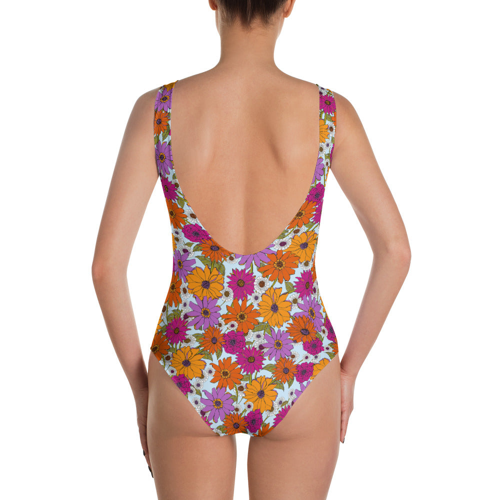 Retro Floral One Piece Swimsuit   Roxie Rudolph Roxie Rudolph Roxie Rudolph