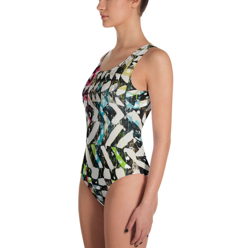 Checkered Canvas One Piece Swimsuit   Roxie Rudolph Roxie Rudolph Roxie Rudolph