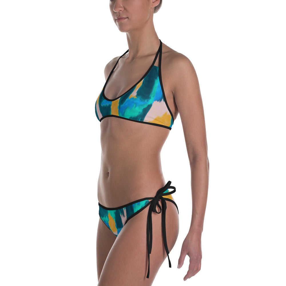 Watercolor Abstract Reversible Bikini   Roxie Rudolph Roxie Rudolph Roxie Rudolph