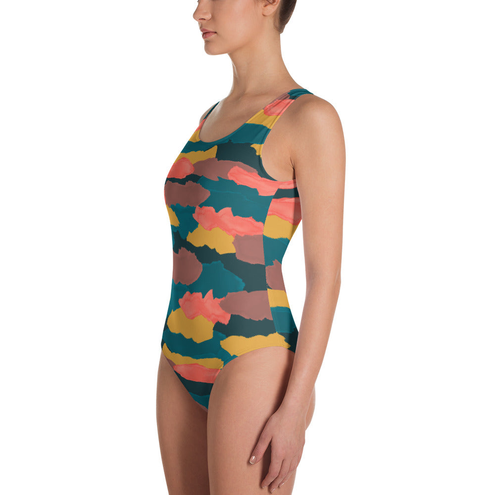 Camo Clouds One Piece Swimsuit   Roxie Rudolph Roxie Rudolph Roxie Rudolph
