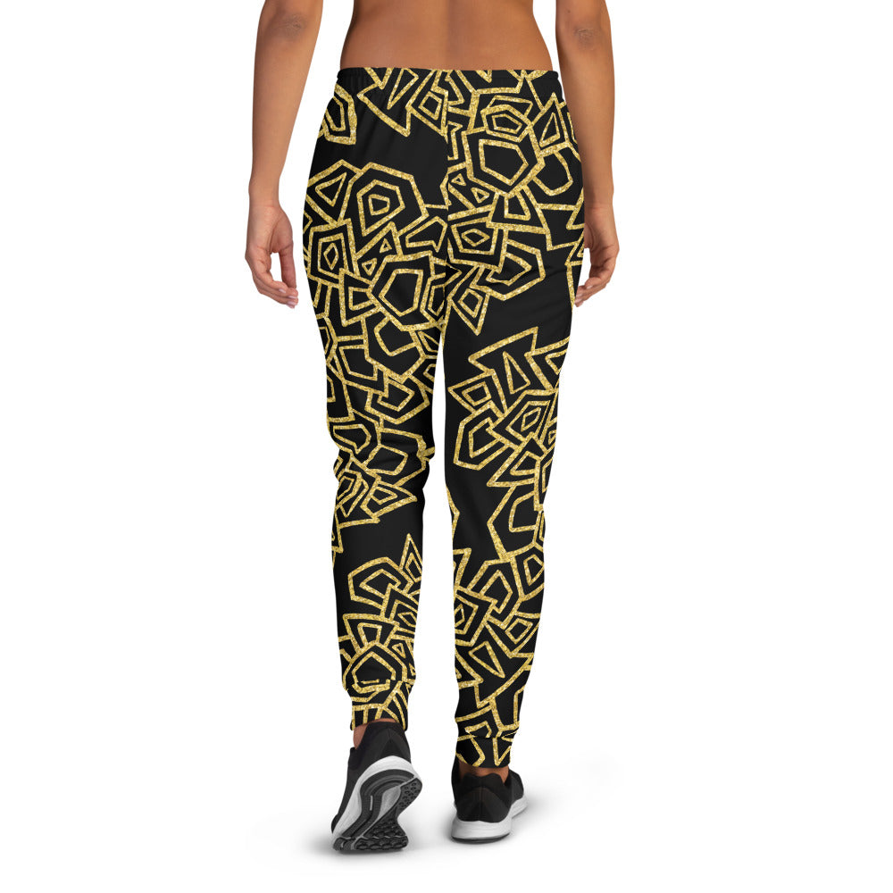 Gold Foil Geo Joggers Joggers  Roxie Rudolph Roxie Rudolph Roxie Rudolph