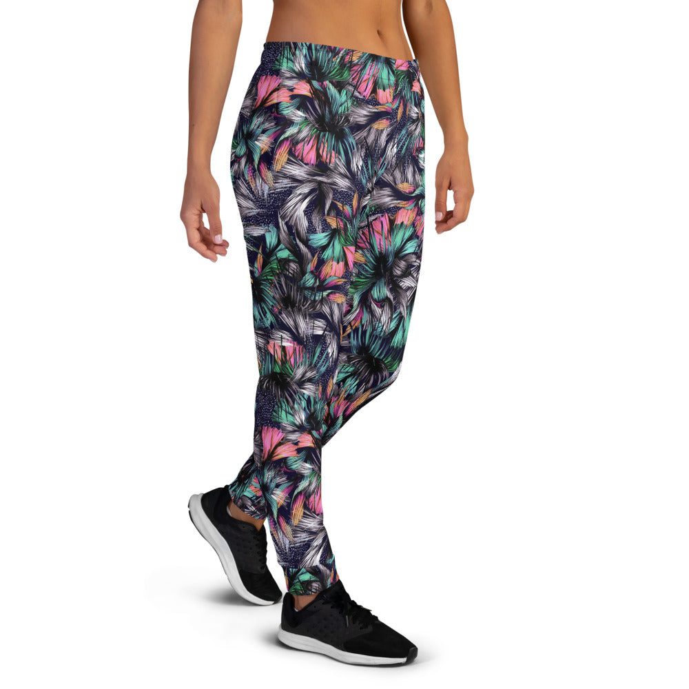 Feathery Tropical Joggers Joggers  Roxie Rudolph Roxie Rudolph Roxie Rudolph