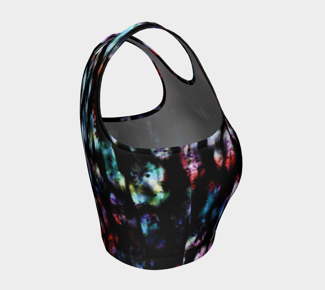 Aurora Borealis Athletic Crop Top Athletic Crop Top  Roxie Rudolph Roxie Rudolph Roxie Rudolph