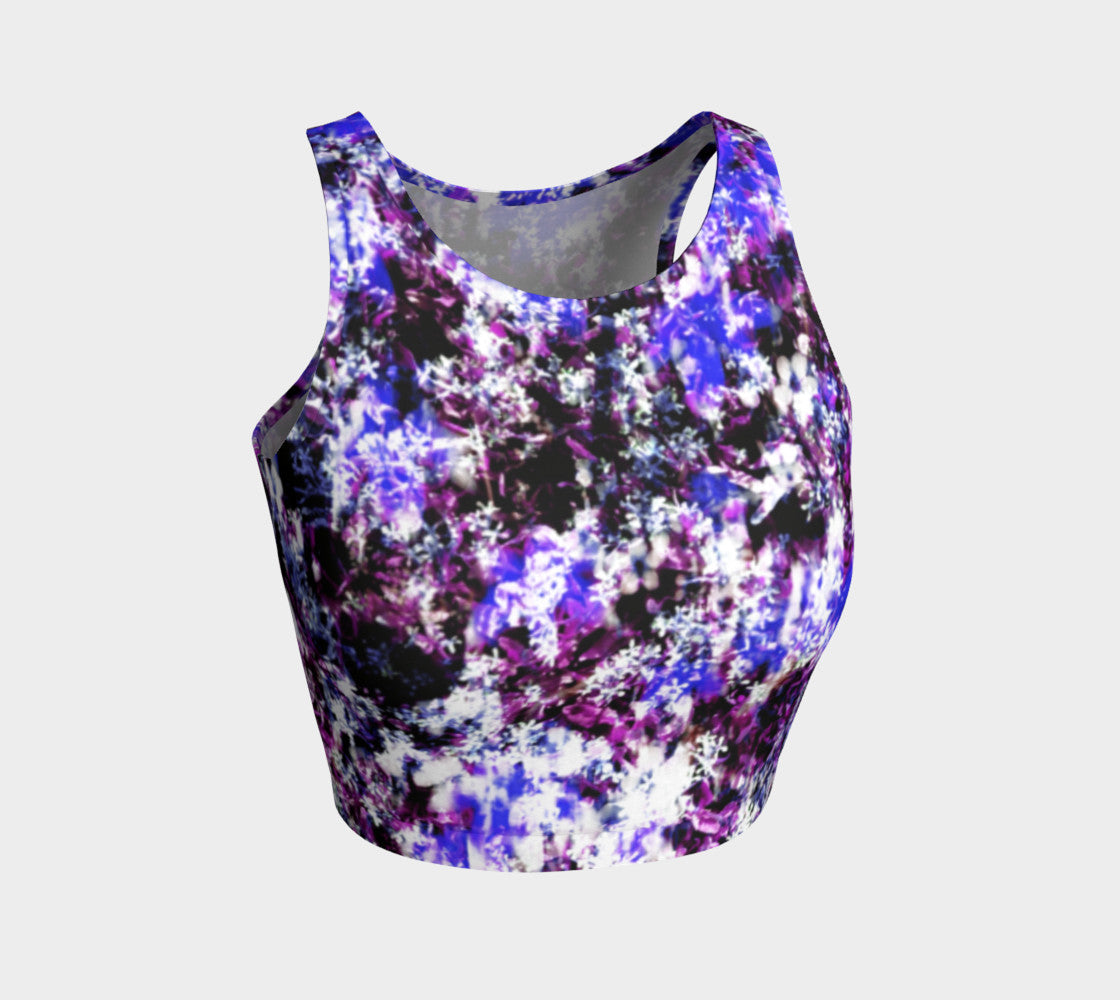 Fantasy Floral Athletic Crop Top Athletic Crop Top  Roxie Rudolph Roxie Rudolph Roxie Rudolph
