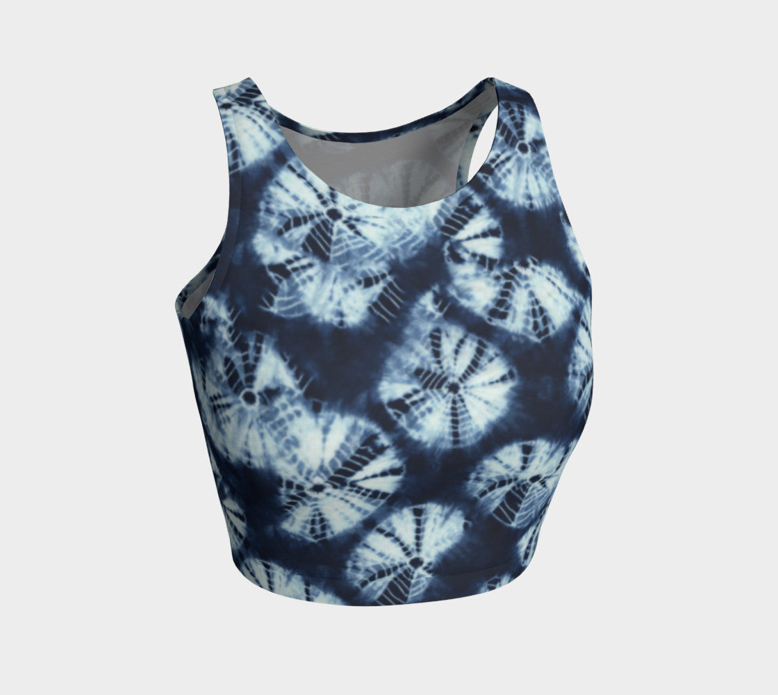 Shibori Athletic Crop Top Athletic Crop Top  Roxie Rudolph Roxie Rudolph Roxie Rudolph