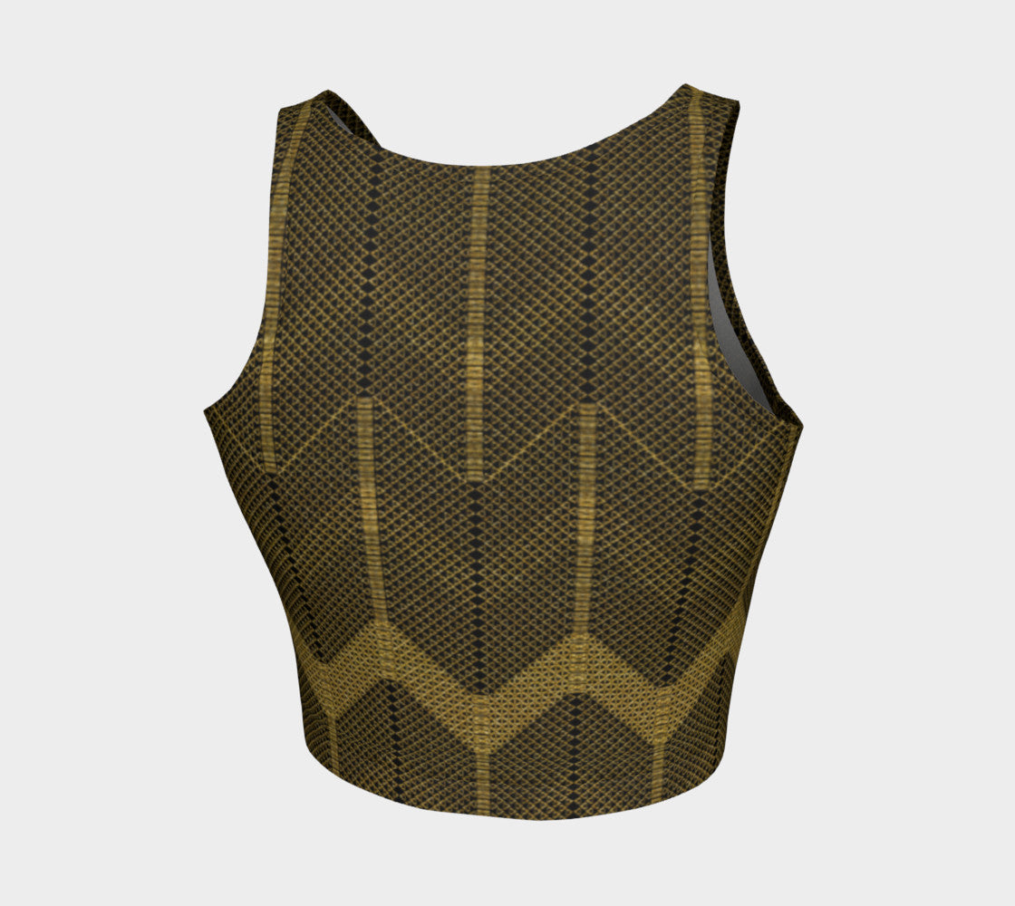 Gold Foil Mesh Athletic Crop Top Athletic Crop Top  Roxie Rudolph Roxie Rudolph Roxie Rudolph
