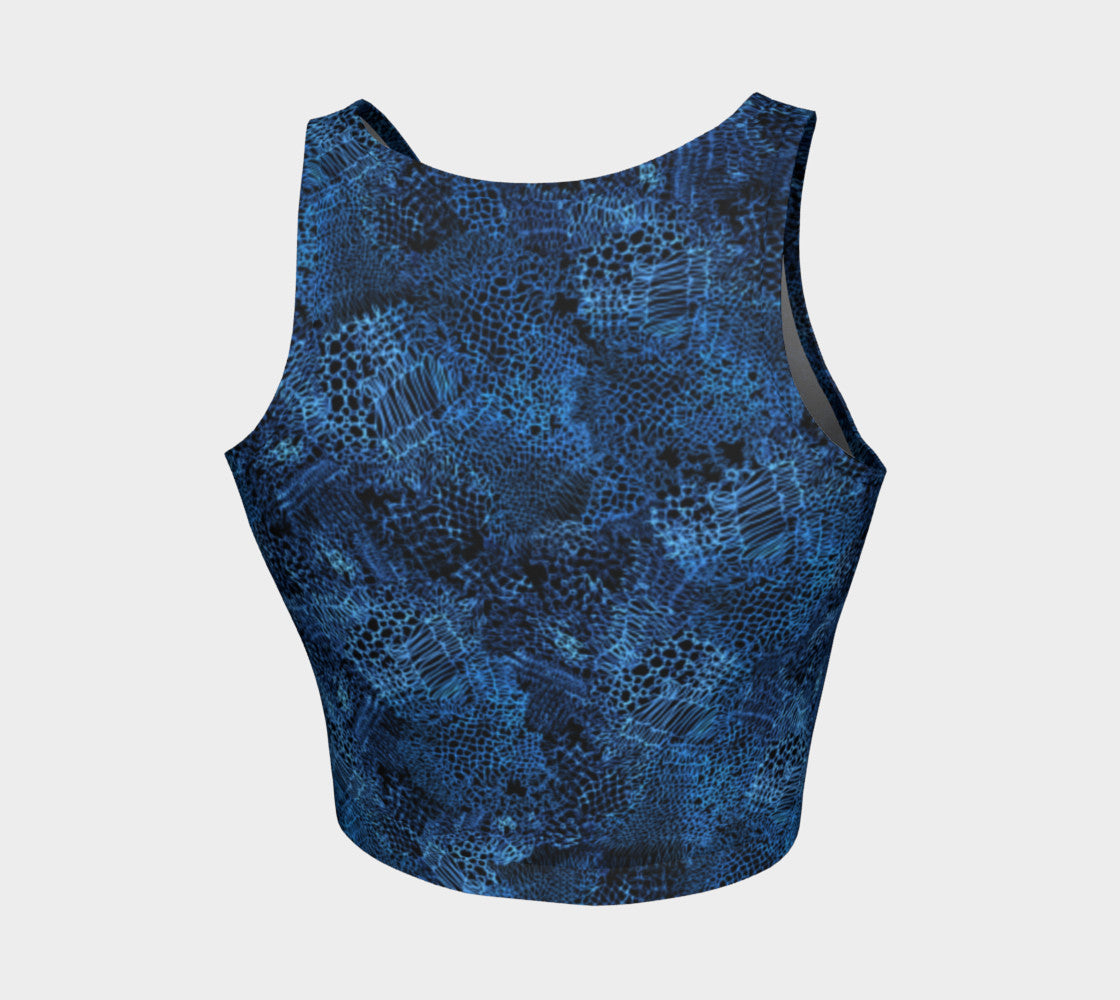 Unraveled Knit Athletic Crop Top