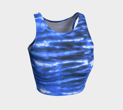 Shibori Stripe Athletic Crop Top