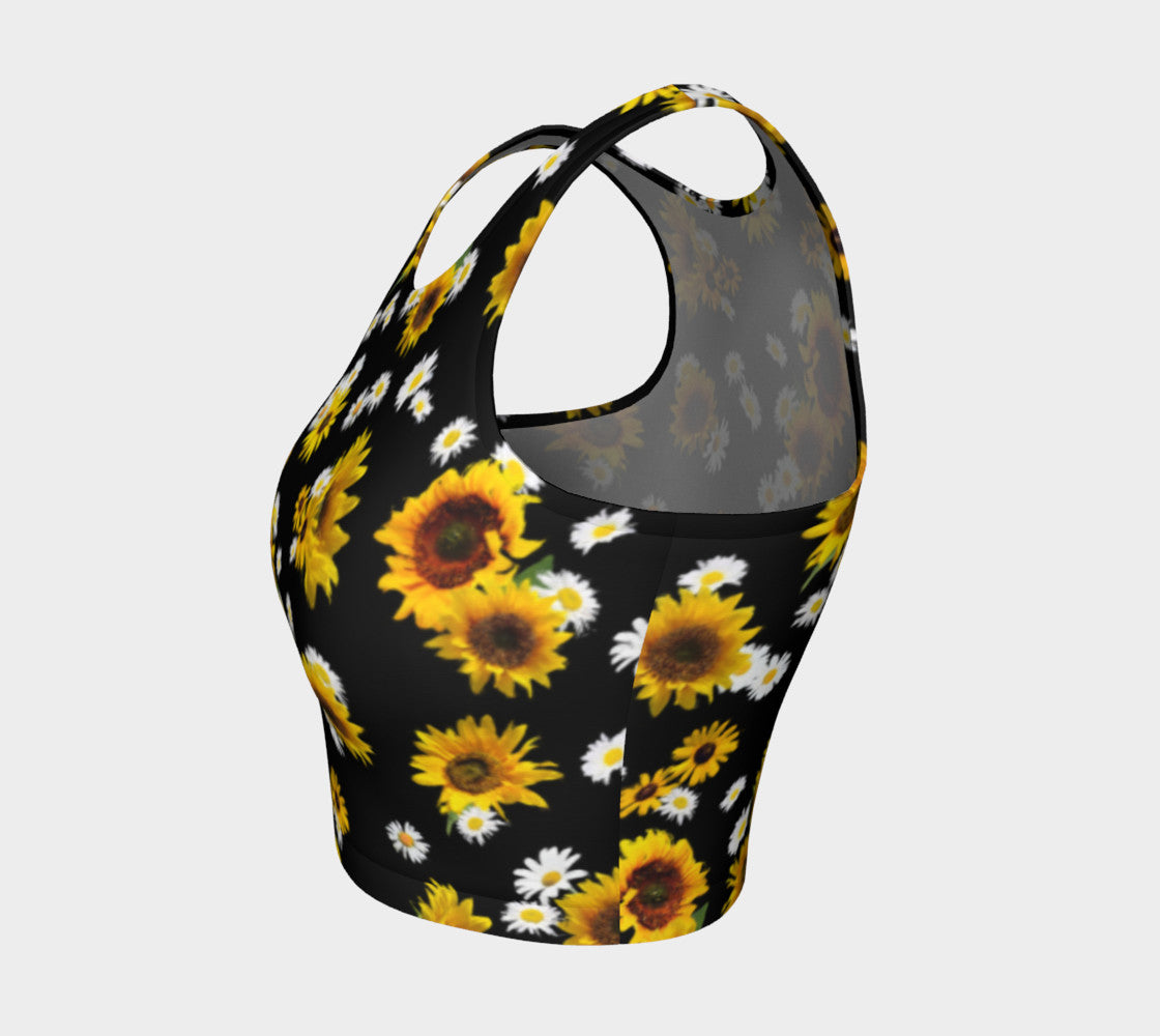 Sunflowers and Daisies Athletic Crop Top Athletic Crop Top  Roxie Rudolph Roxie Rudolph Roxie Rudolph