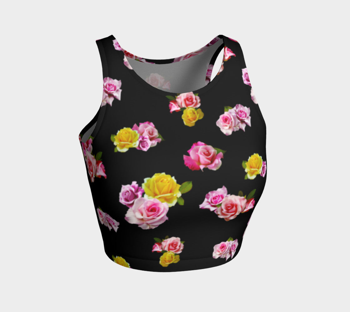 Photoreal Floral Athletic Crop Top Athletic Crop Top  Roxie Rudolph Roxie Rudolph Roxie Rudolph