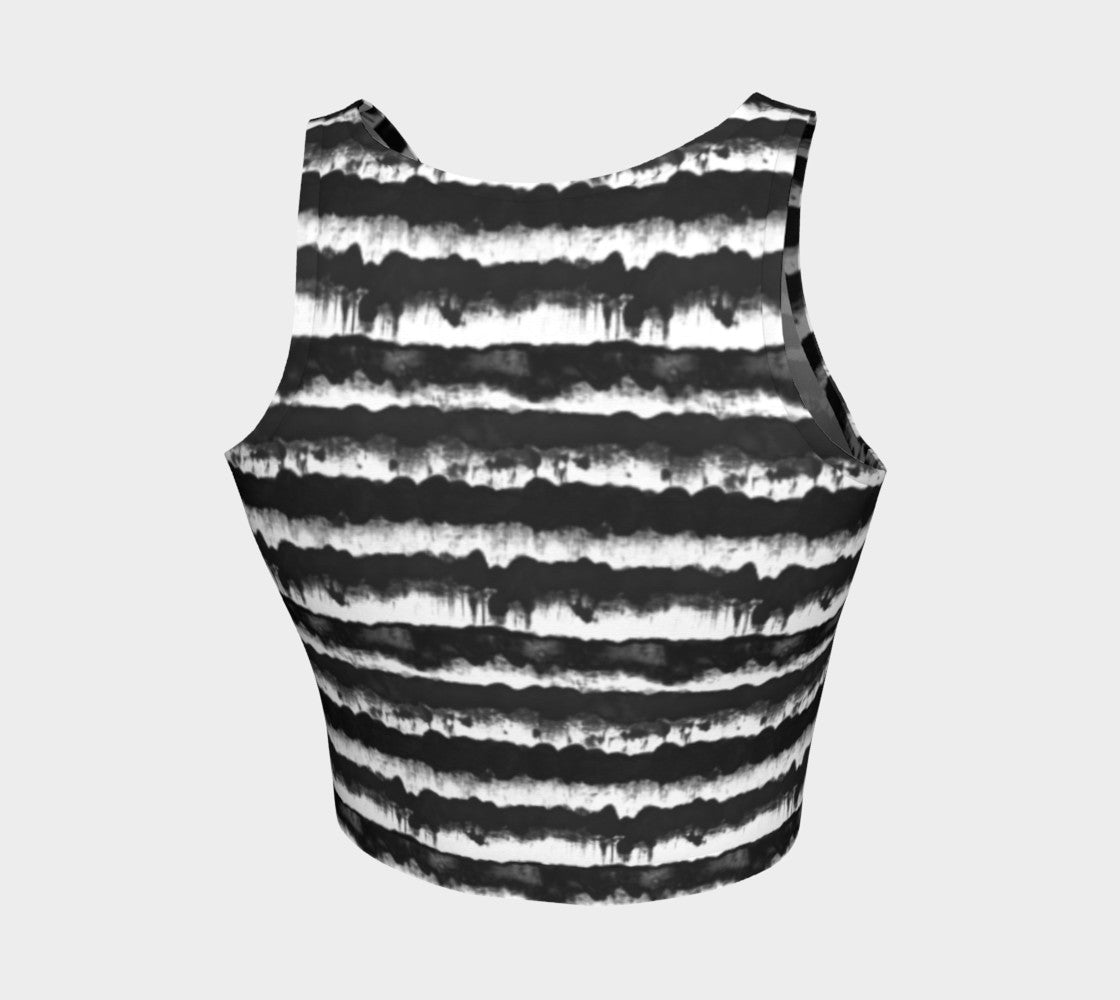 Inky Stripe Athletic Crop Top Athletic Crop Top  Roxie Rudolph Roxie Rudolph Roxie Rudolph