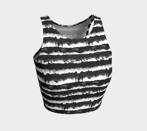 Inky Stripe Athletic Crop Top
