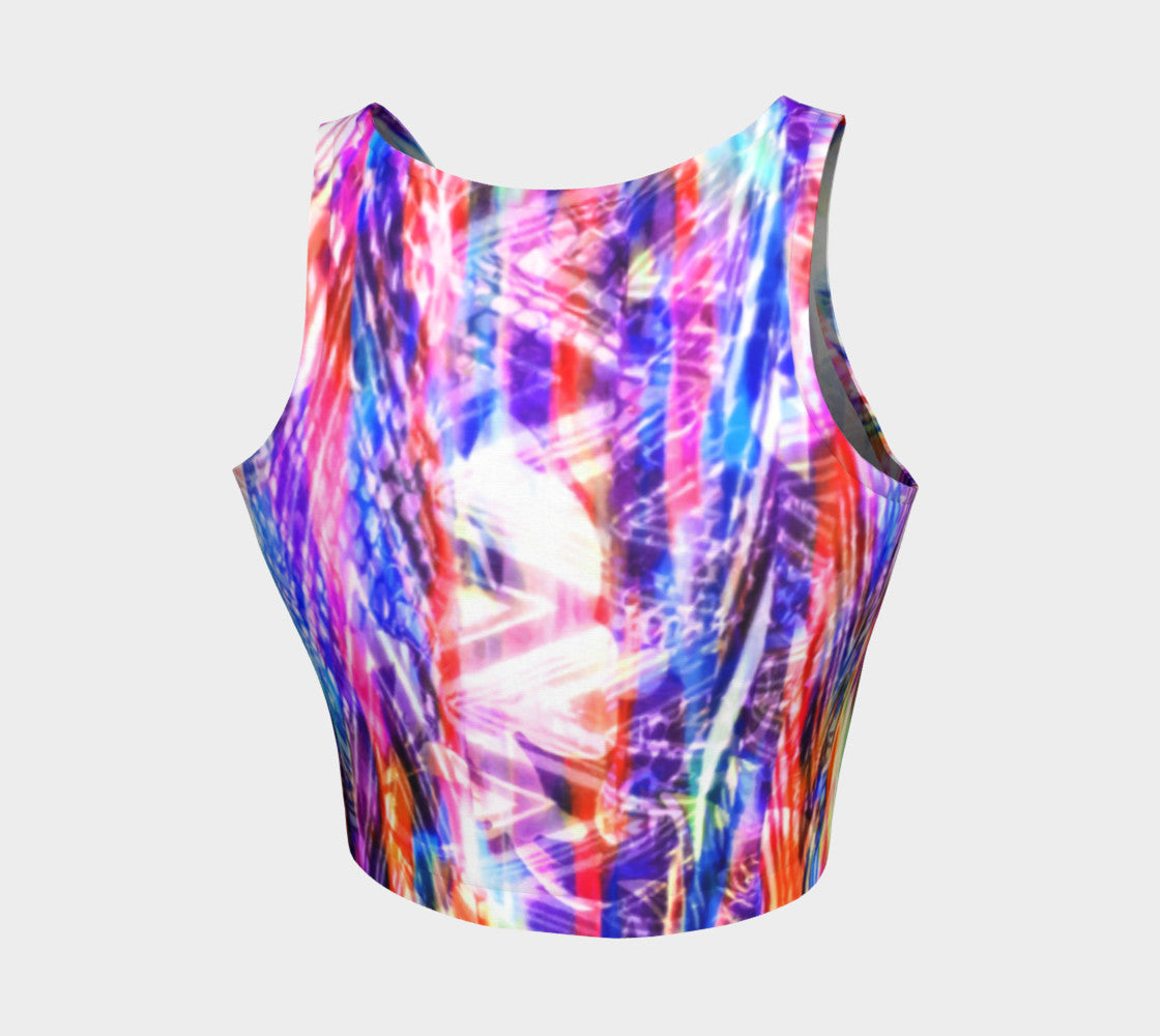 Zig Zag Overlay Athletic Crop Top