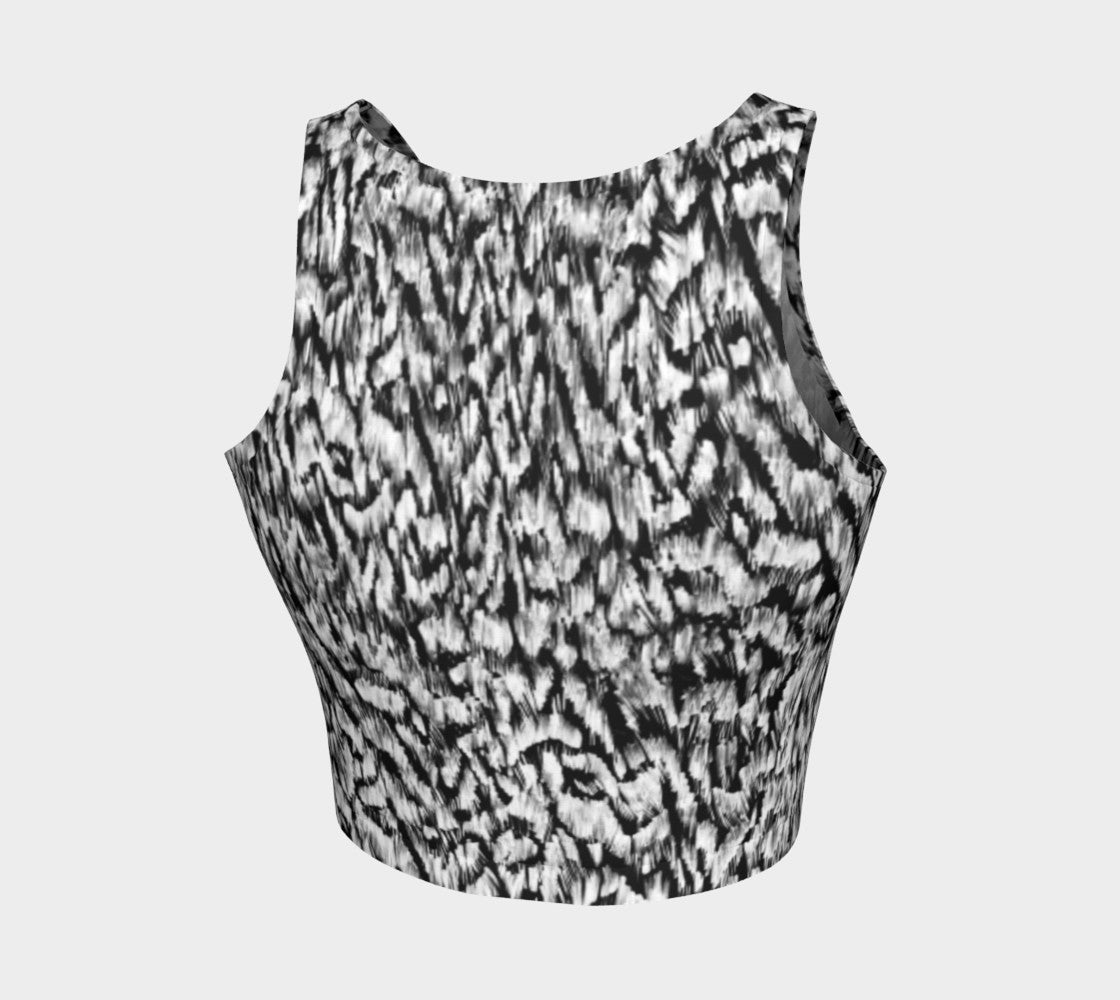Black + White Animal Athletic Crop Top Athletic Crop Top  Roxie Rudolph Roxie Rudolph Roxie Rudolph