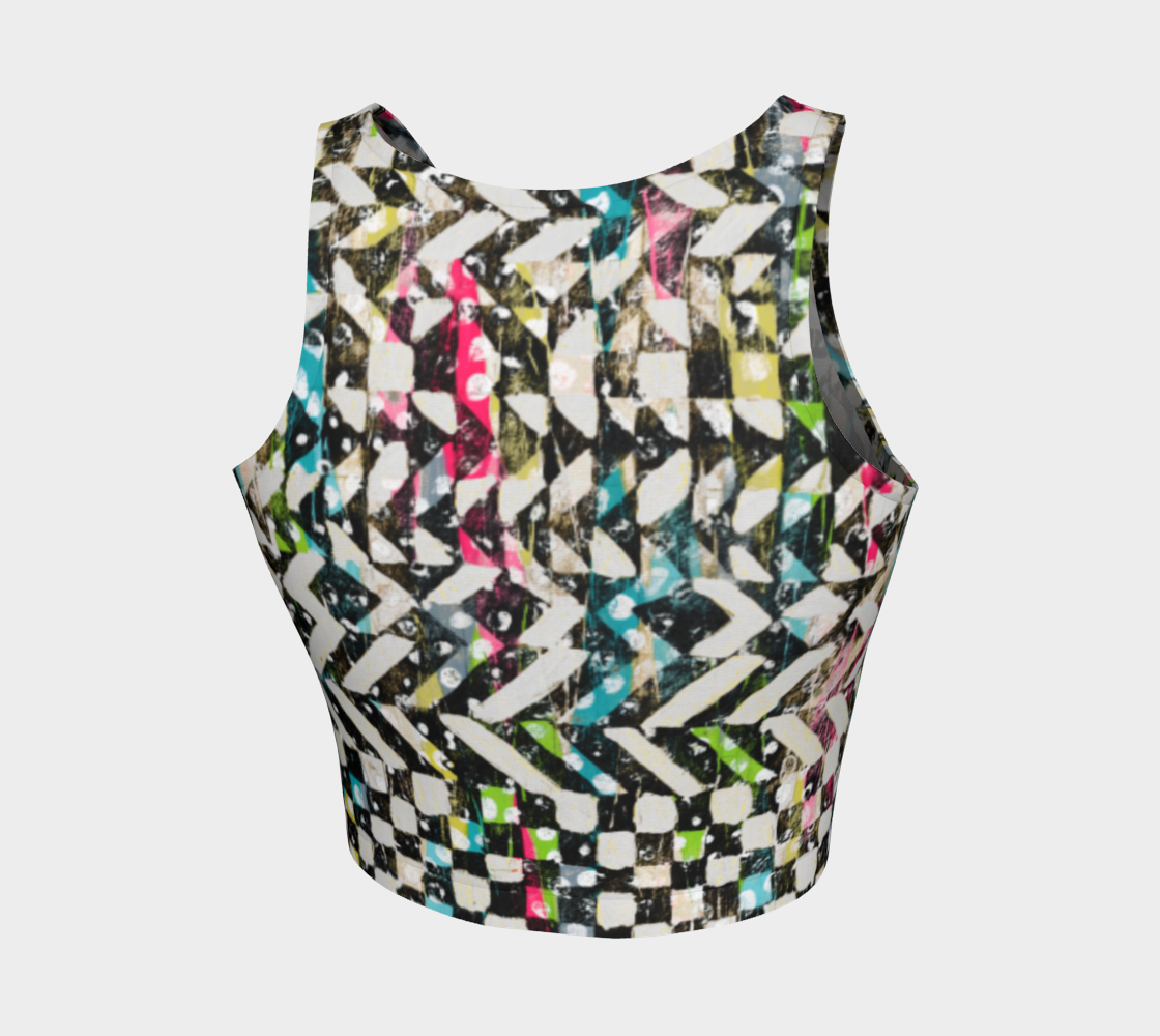 Checkered Canvas Athletic Crop Top Athletic Crop Top  Roxie Rudolph Roxie Rudolph Roxie Rudolph