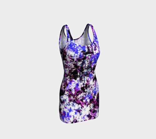Fantasy Floral Bodycon Dress