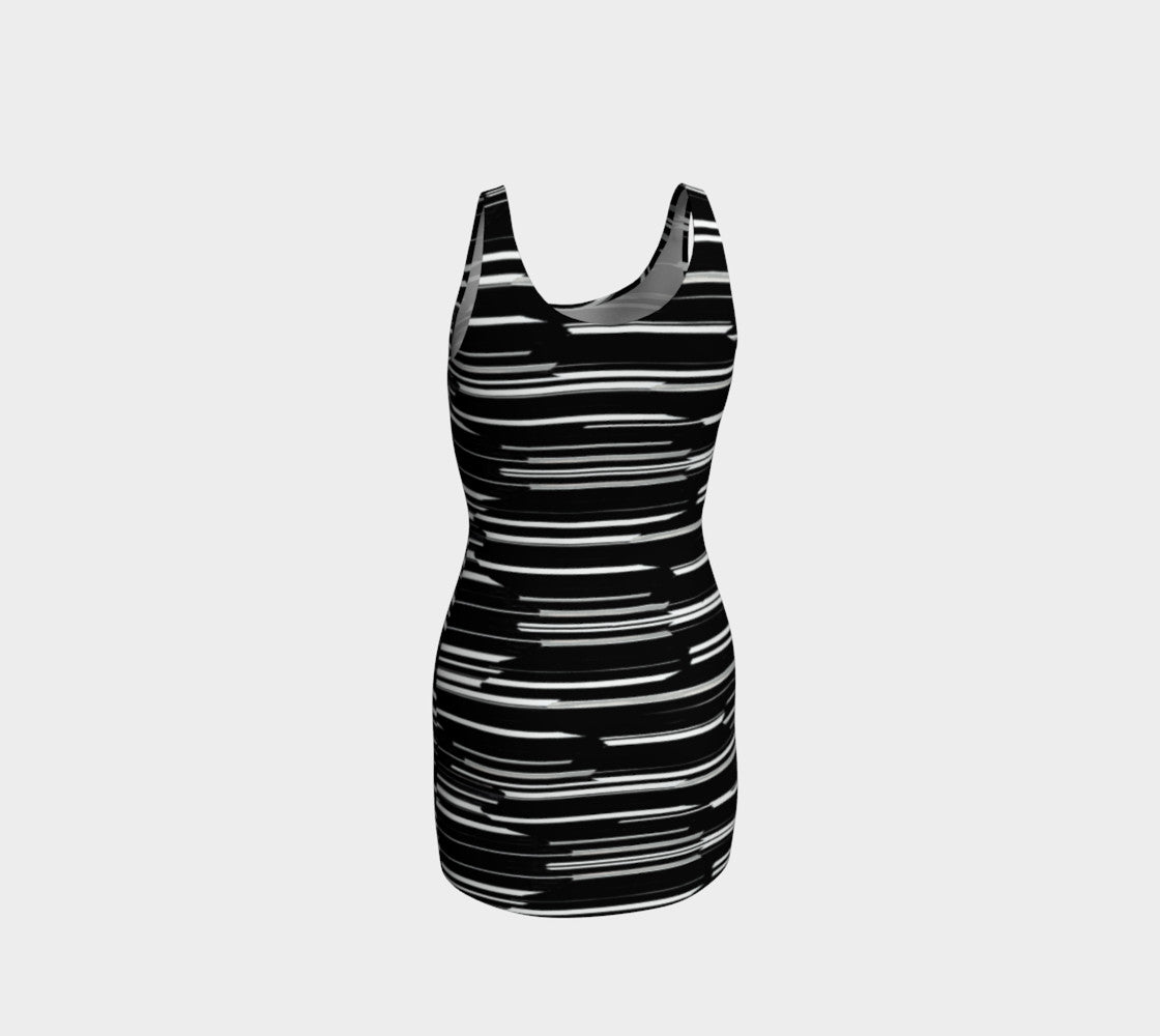 Smeared Stripe Bodycon Dress