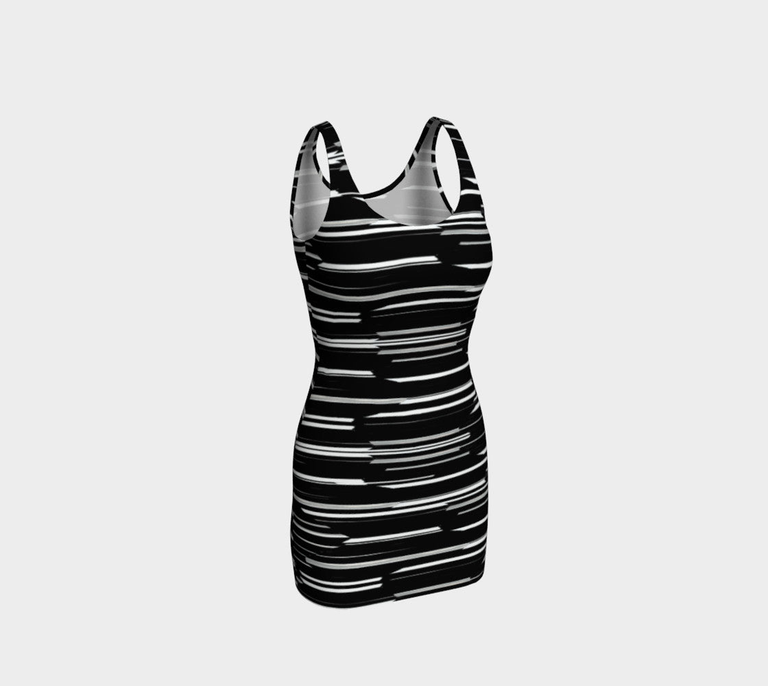 Smeared Stripe Bodycon Dress Bodycon Dress  Roxie Rudolph Roxie Rudolph Roxie Rudolph