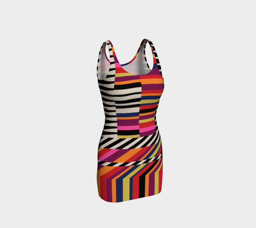 Rainbow Geo Bodycon Dress