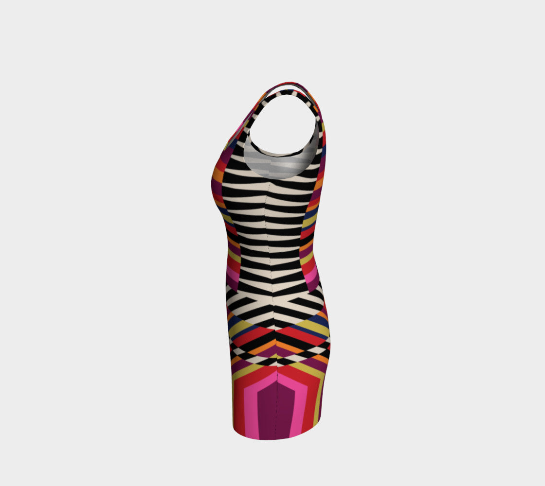 Rainbow Geo Bodycon Dress Bodycon Dress  Roxie Rudolph Roxie Rudolph Roxie Rudolph