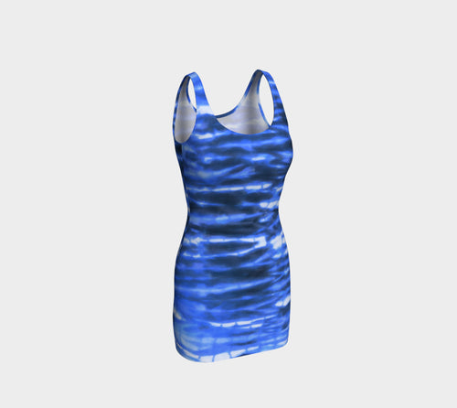 Shibori Stripe Bodycon Dress