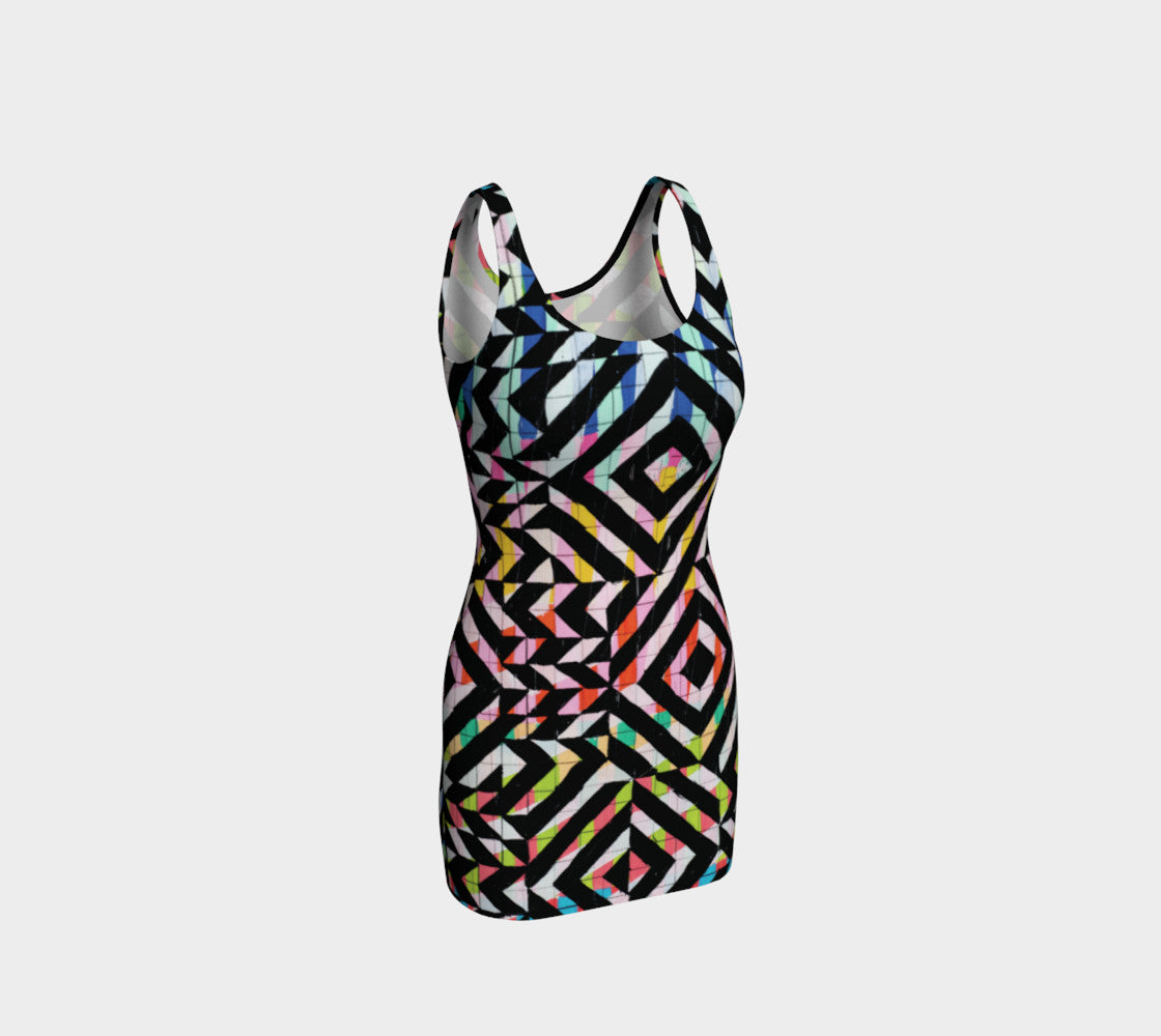 Street Art Mural Bodycon Dress Bodycon Dress  Roxie Rudolph Roxie Rudolph Roxie Rudolph
