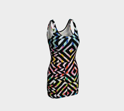 Street Art Mural Bodycon Dress