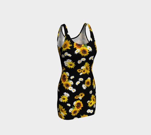 Sunflowers and Daisies Bodycon Dress