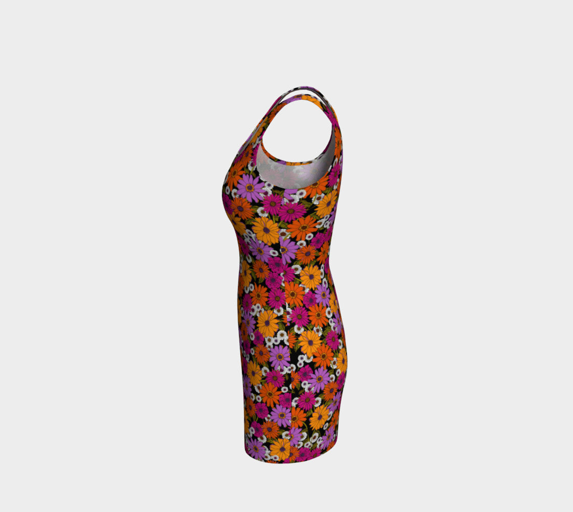 Retro Floral Fitted Dress Bodycon Dress  Roxie Rudolph Roxie Rudolph Roxie Rudolph