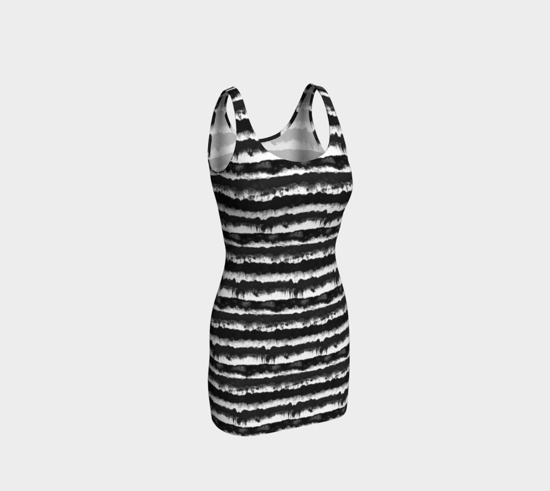 Inky Stripe Bodycon Dress Bodycon Dress  Roxie Rudolph Roxie Rudolph Roxie Rudolph