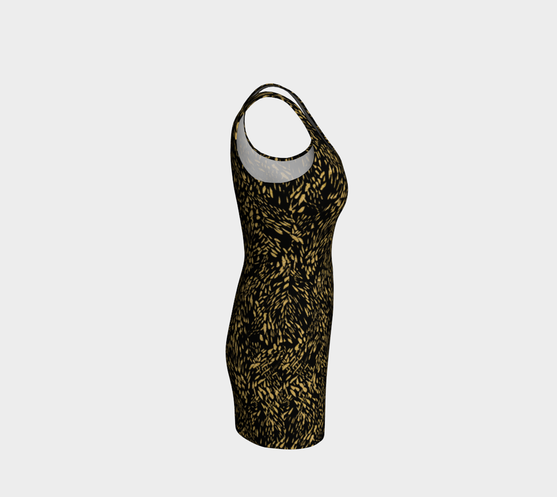 Gold Foil Brushstroke Bodycon Dress Bodycon Dress  Roxie Rudolph Roxie Rudolph Roxie Rudolph