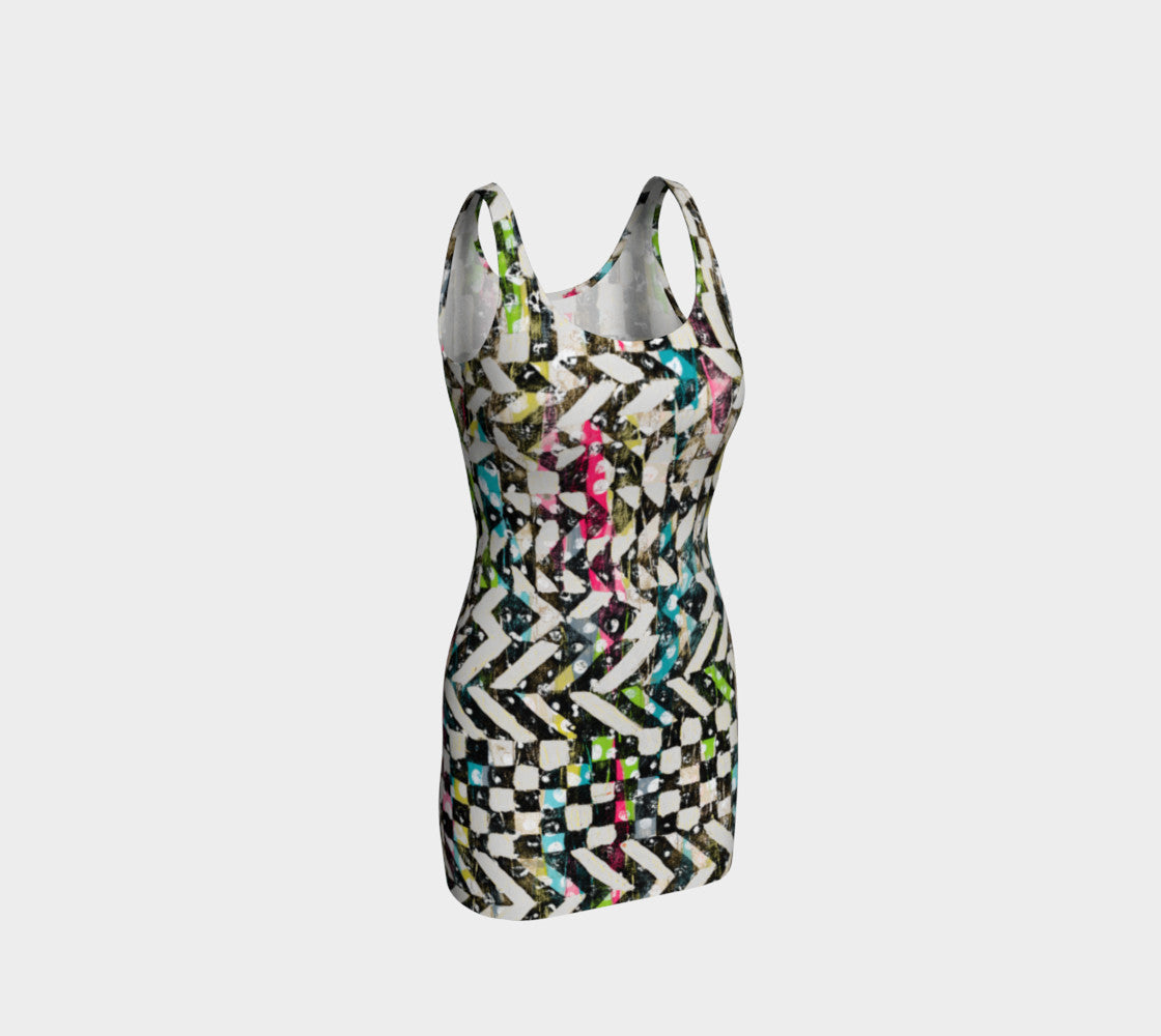 Checkered Canvas Bodycon Dress Bodycon Dress  Roxie Rudolph Roxie Rudolph Roxie Rudolph