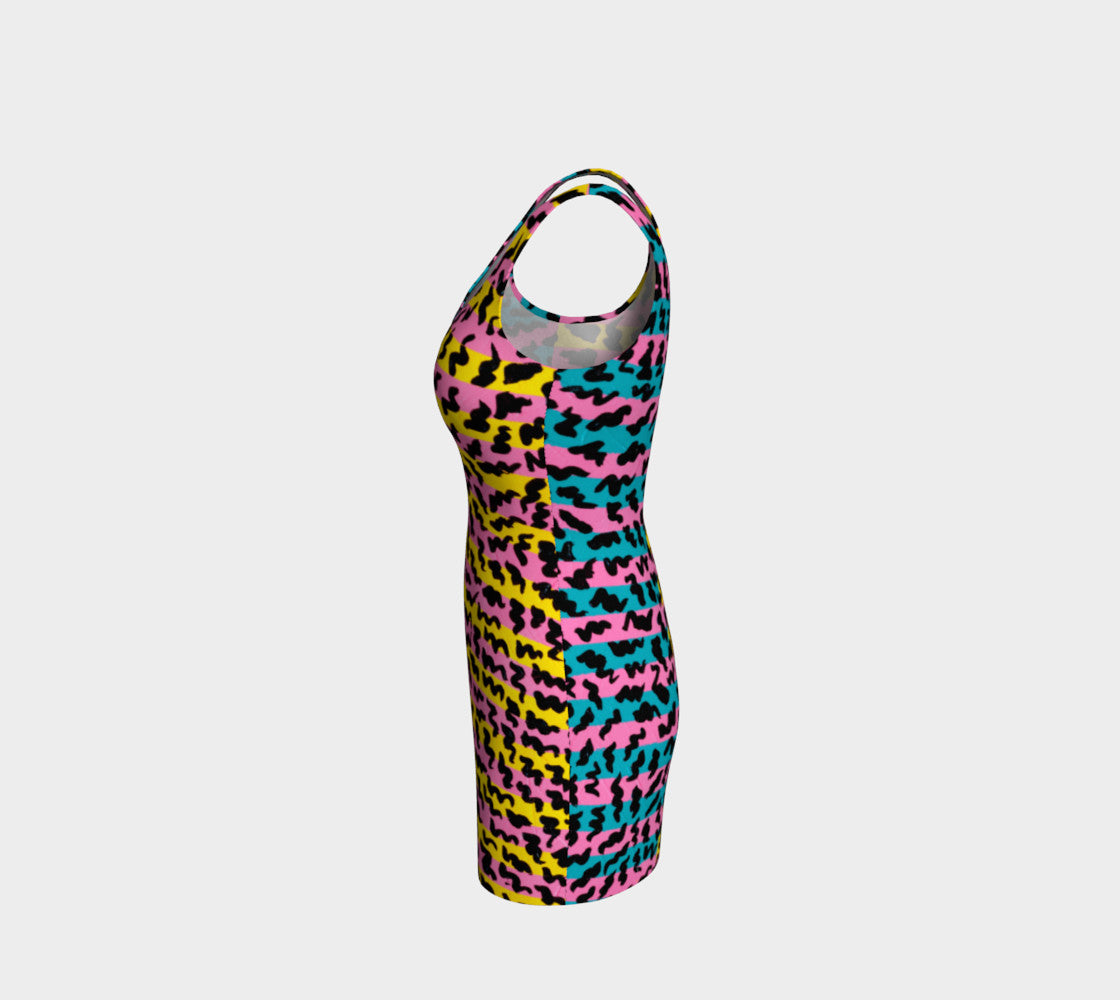 80's Pop Bodycon Dress Bodycon Dress  Roxie Rudolph Roxie Rudolph Roxie Rudolph