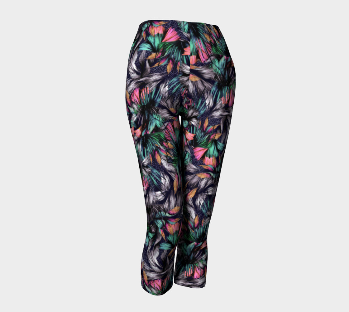 Feathery Tropical Capris Capris  Roxie Rudolph Roxie Rudolph Roxie Rudolph