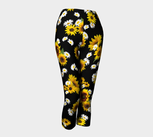 Sunflowers and Daisies Capris