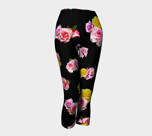 Photoreal Floral Capris
