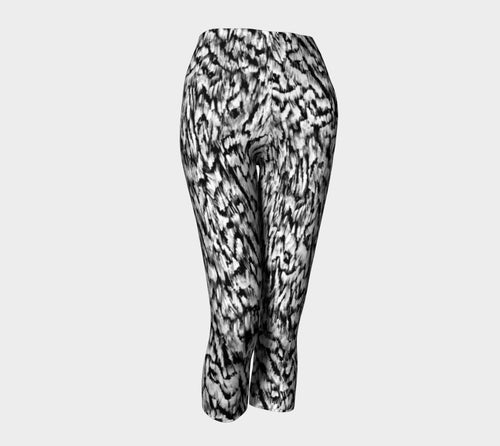 Black + White Animal Capris