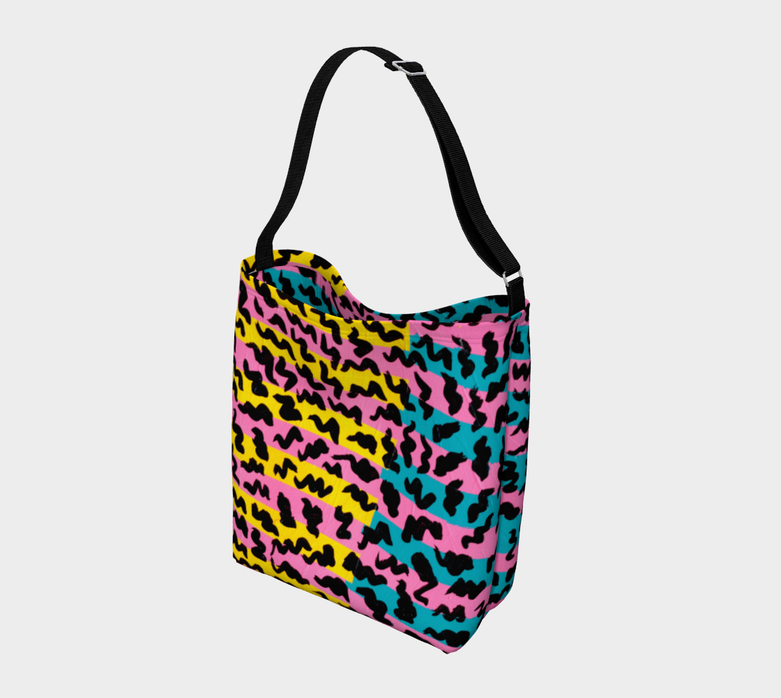 80's Pop Stretchy Tote Day Tote  Roxie Rudolph Roxie Rudolph Roxie Rudolph