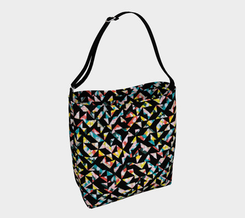 Geo Grid Stretchy Tote