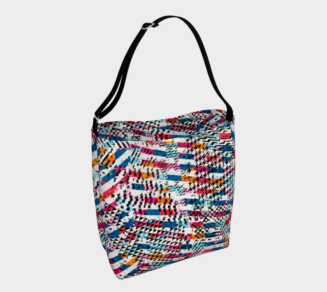 Patternmix Block Print Stretchy Tote Day Tote  Roxie Rudolph Roxie Rudolph Roxie Rudolph