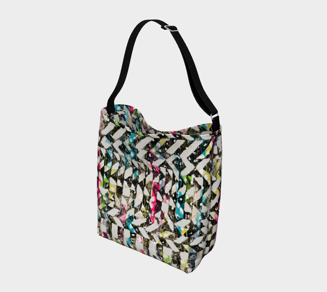 Checkered Canvas Stretchy Tote Day Tote  Roxie Rudolph Roxie Rudolph Roxie Rudolph