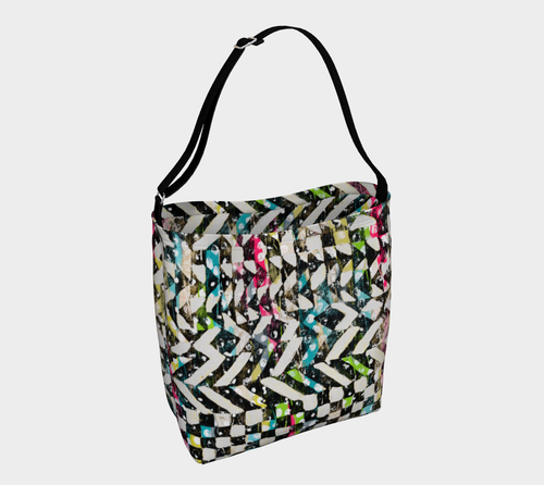 Checkered Canvas Stretchy Tote