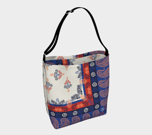 Elephant Paisley Stretchy Tote