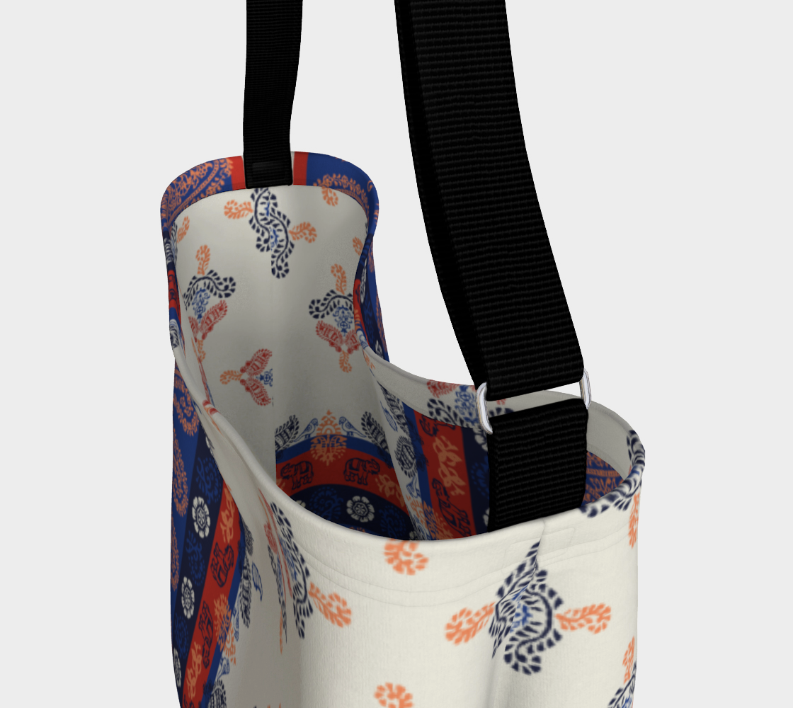 Elephant Paisley Stretchy Tote Day Tote  Roxie Rudolph Roxie Rudolph Roxie Rudolph