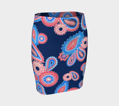 Mondo Paisley Fitted Skirt