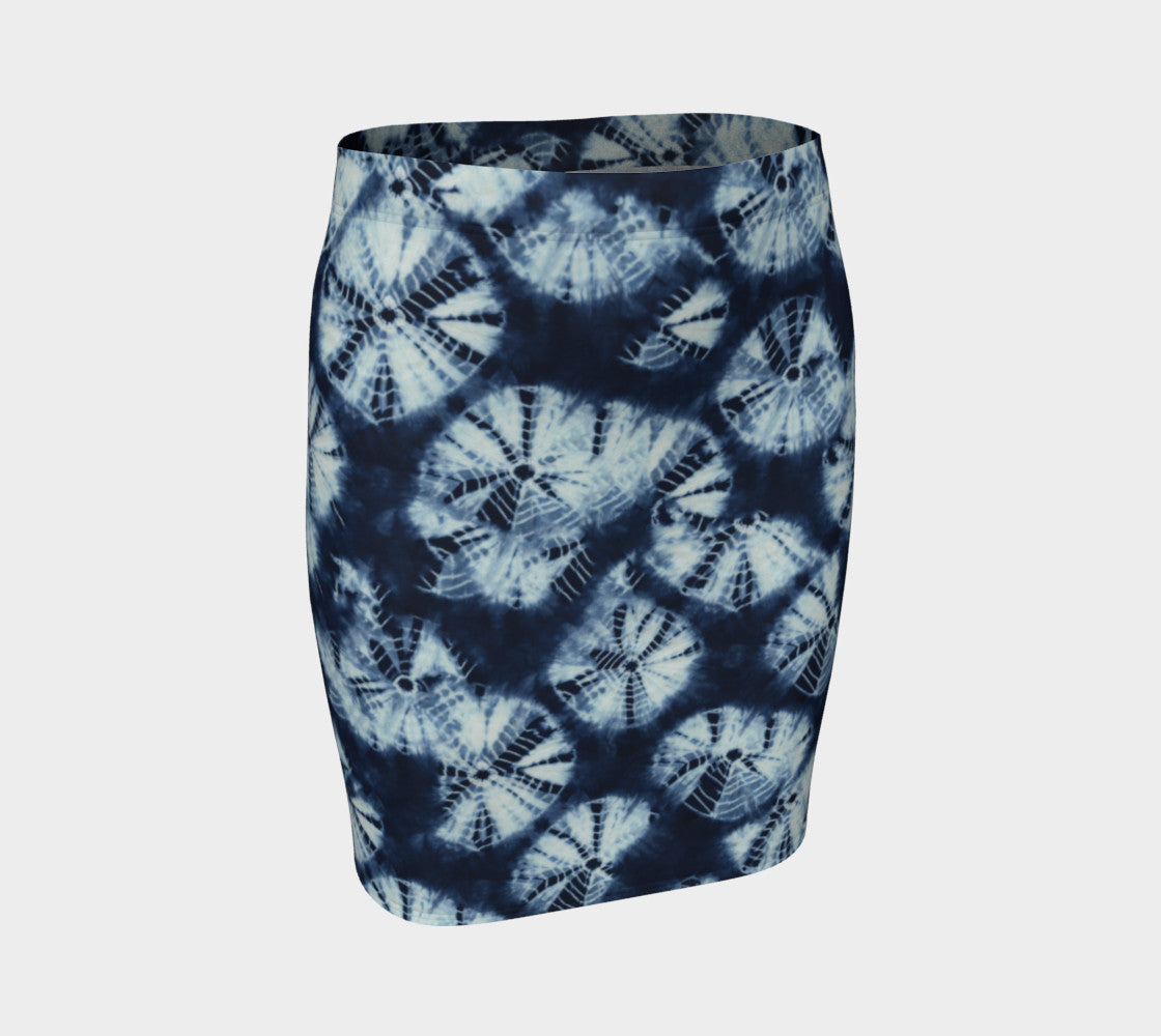 Shibori Fitted Skirt Fitted Skirt  Roxie Rudolph Roxie Rudolph Roxie Rudolph