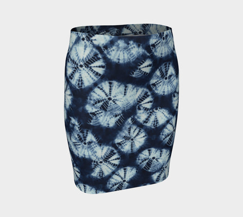 Shibori Fitted Skirt