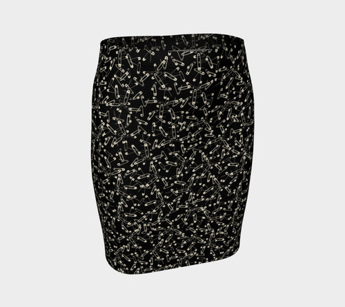 Safety Pin Fitted Skirt